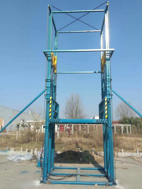 工厂施工载货导轨液压升降平台