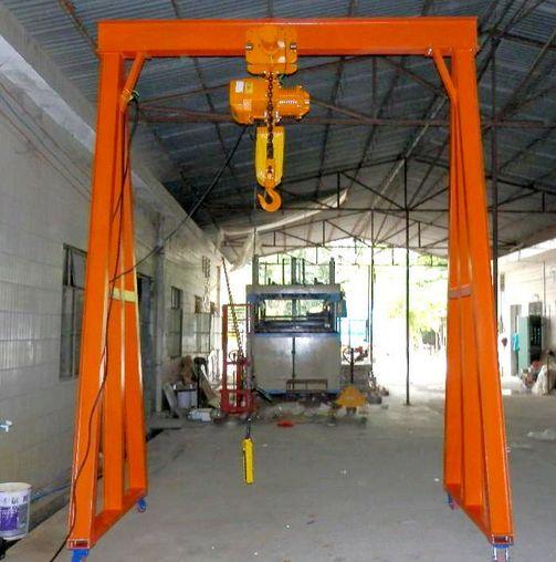 上海定做MH型简易小型电动葫芦门式起重机设备龙门吊厂家直销