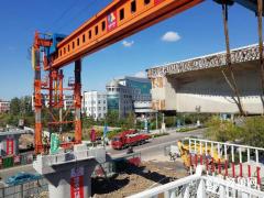 膠濟膠黃聯絡線開始箱梁架設  預計11月底通車