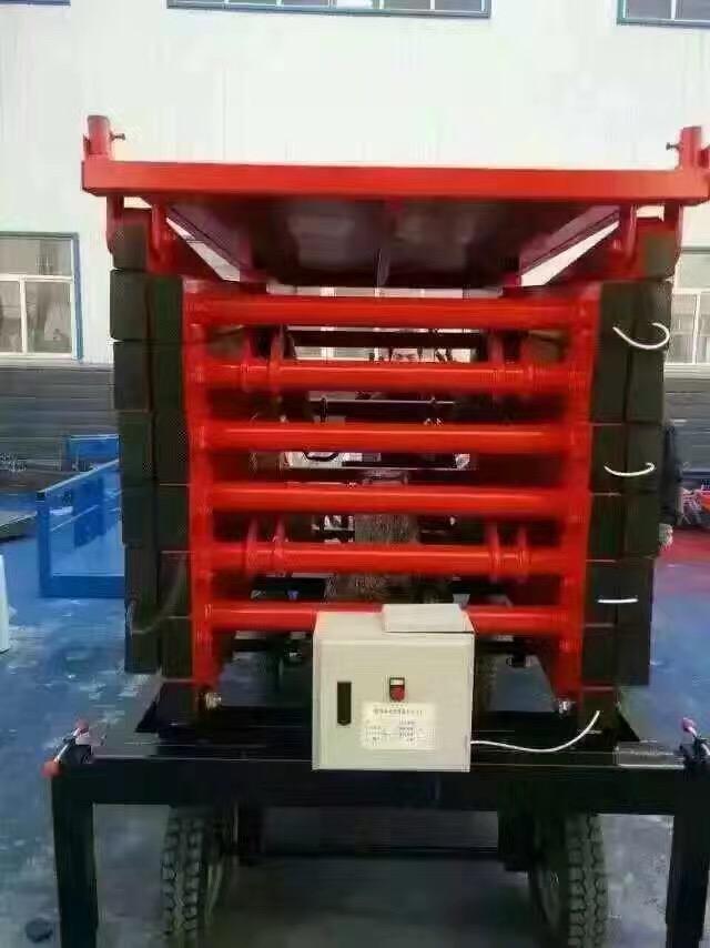 河南移动液压平台四轮移动式升降平台厂家批发