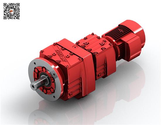 三合一变速机RF67R37|迈传减速机|三合一电机减速机厂家