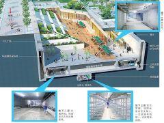 郑州这个工程厉害了!地下一层走人 二层走车 三层走管线