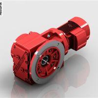 K斜齿轮减速机|法兰直角减速机|迈传螺旋伞齿轮减速机厂家直销