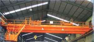 海盐5T双小车吊钩桥式起重机
