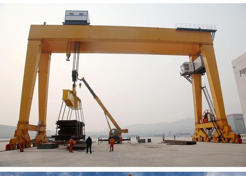 泉州专业生产U型50/10吨双梁吊钩门式起重机