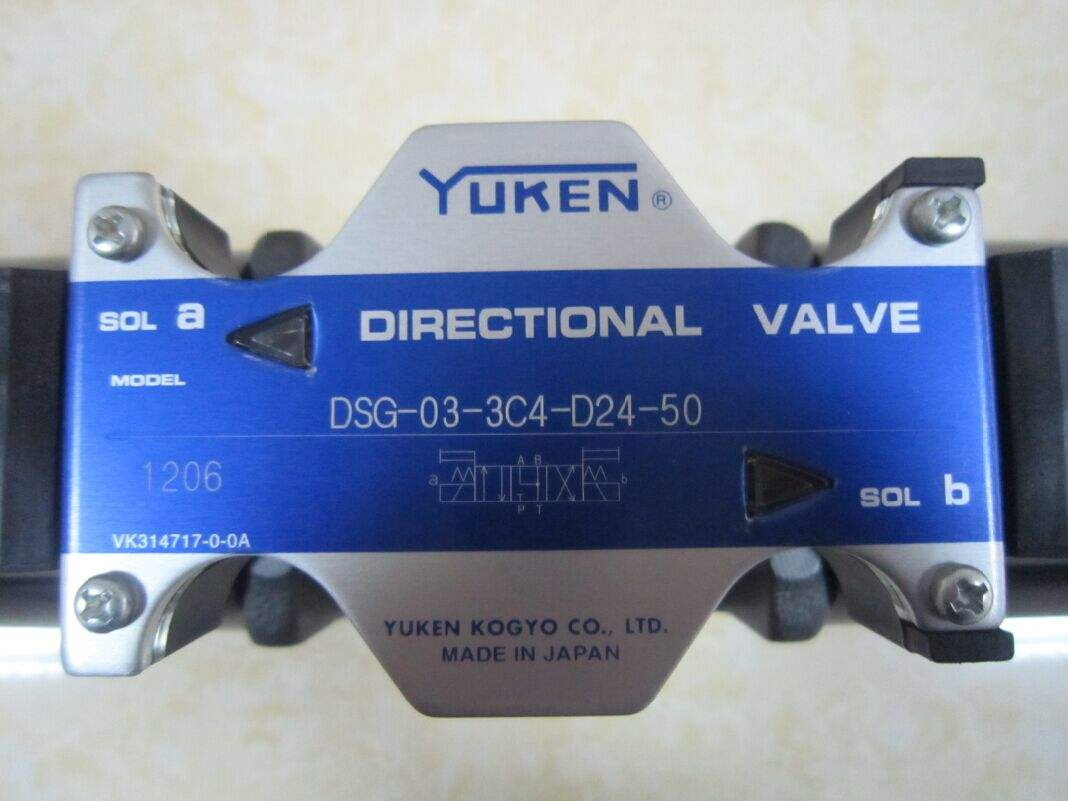 台湾油研YUKEN电磁阀DSG-01-2B2-D24