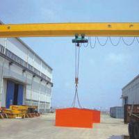 淄博起重机厂家制造半门市单梁龙门吊