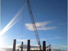 """""""一带一路""""足迹: 10余台徐工履带起重机助力俄罗斯港口建设"""