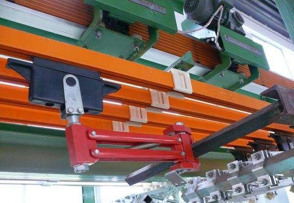 芜湖安全滑触线配套起重机正常运行中