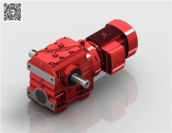 厂家直销SAB77减速机(迈传)S双出轴斜齿轮蜗轮蜗杆减速机