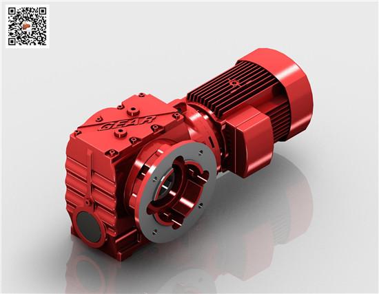 厂家生产SAF77减速机(迈传)斜齿蜗轮蜗杆齿轮减速机