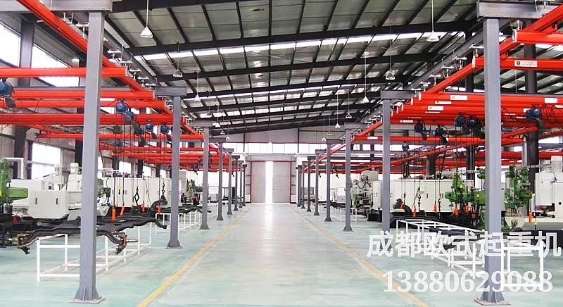 成都专业制造安装轻型悬挂吊车、KBK柔性梁起重机物流运输系统