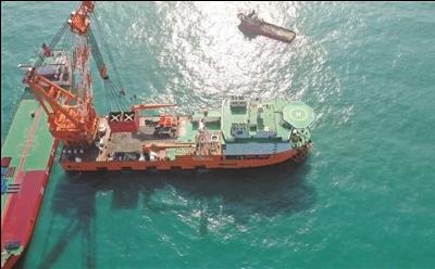 """4500吨大型抢险打捞起重船 """"创力""""轮结束海上试航!"""