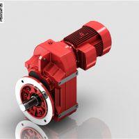 浦东平行轴斜齿轮减速机-FF67平行轴减速机 迈传减速机