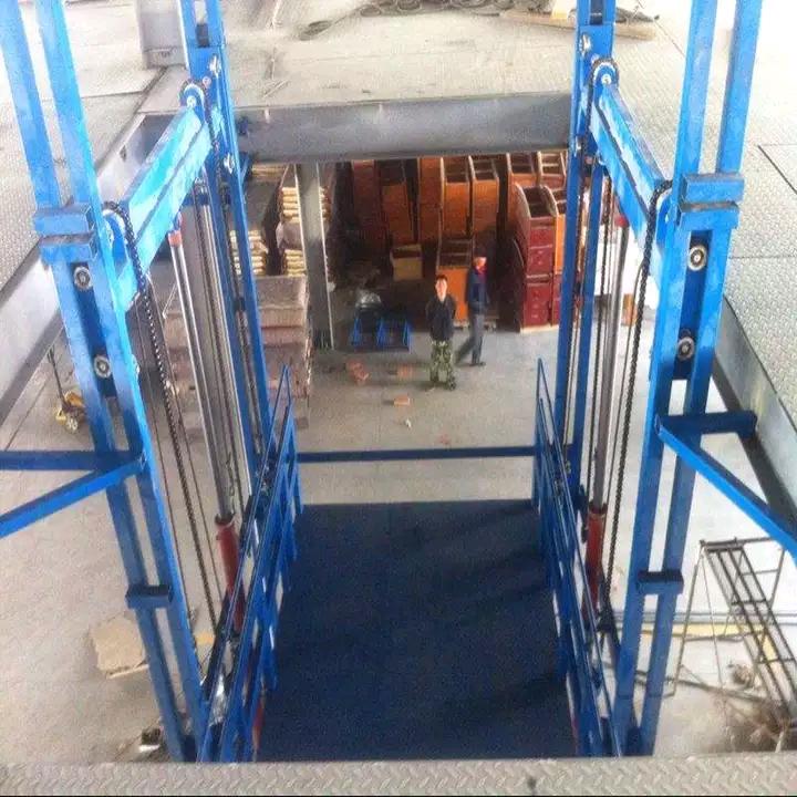开封2T导轨式液压升降货梯厂家直销