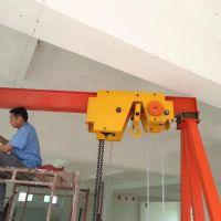 四川新盛華廠家供應1噸-130噸移動龍門吊安裝現場