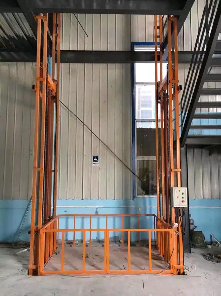 周口3T導軌式液壓升降貨梯升降機廠家直銷